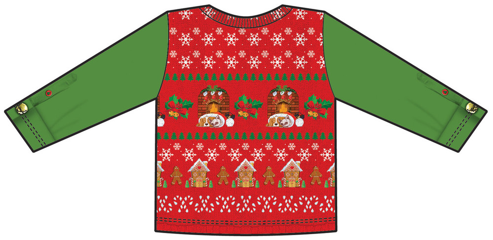 Toddler Ugly Christmas Vest T-Shirt - Back View