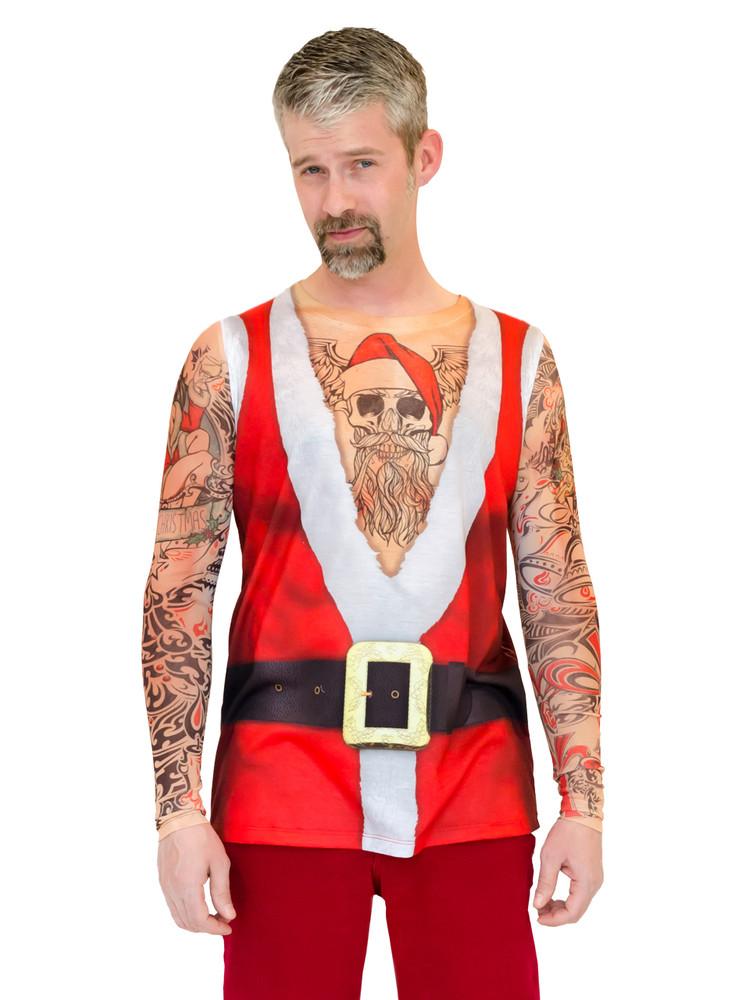 Santa Suit Tank with Tattoos