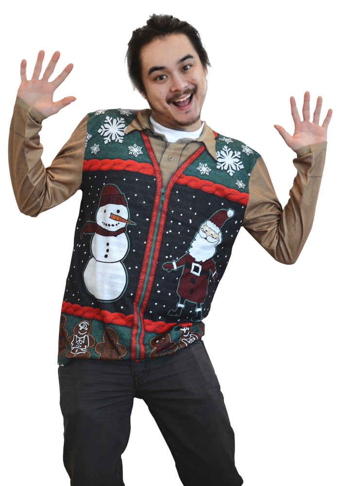 Christmas Zip Sweater Vest