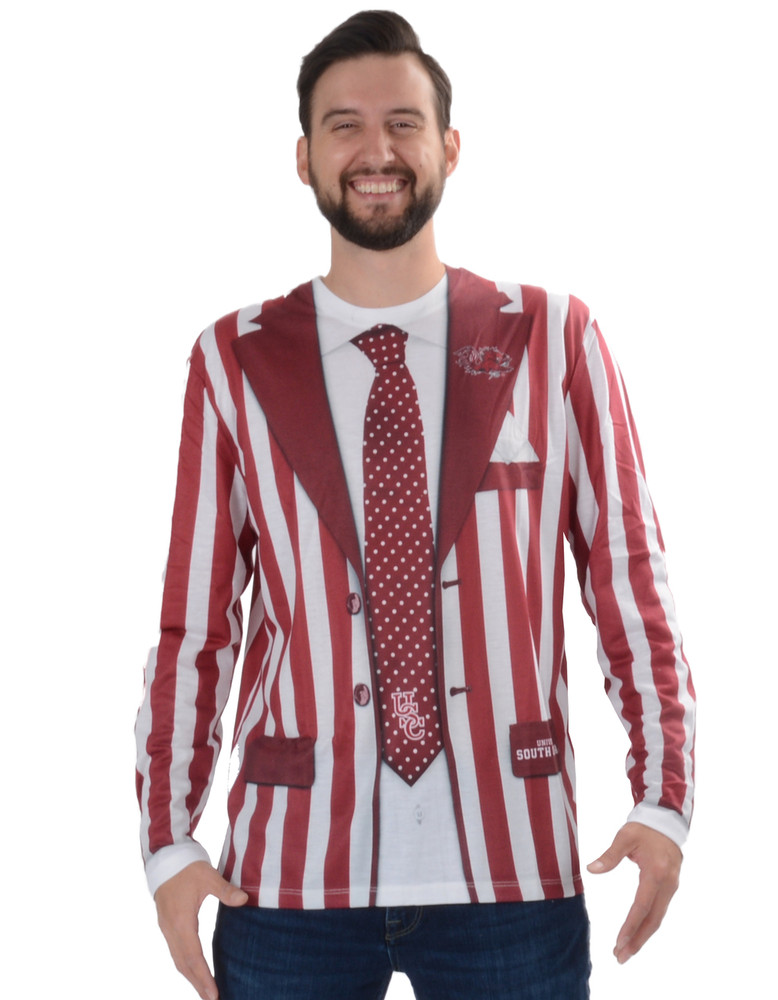 South Carolina Gamecocks Striped Suit Tee