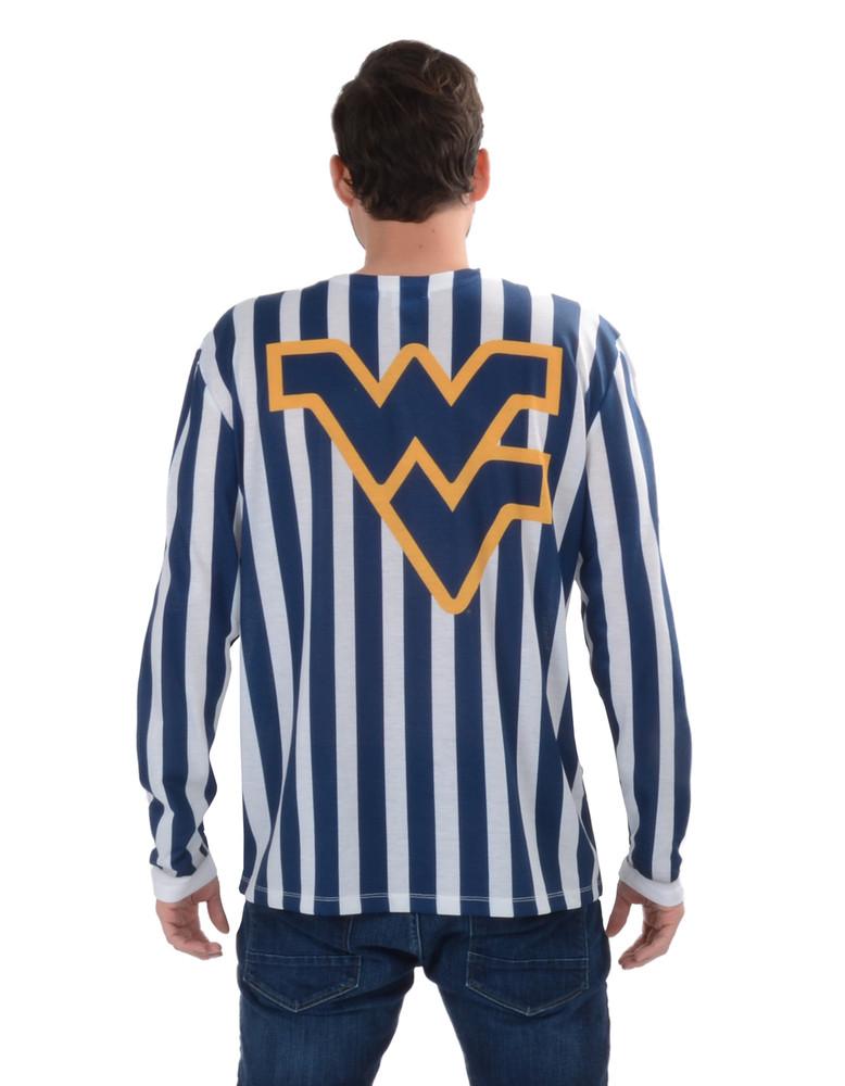 West Virginia Mountaineers Striped Suit Tee