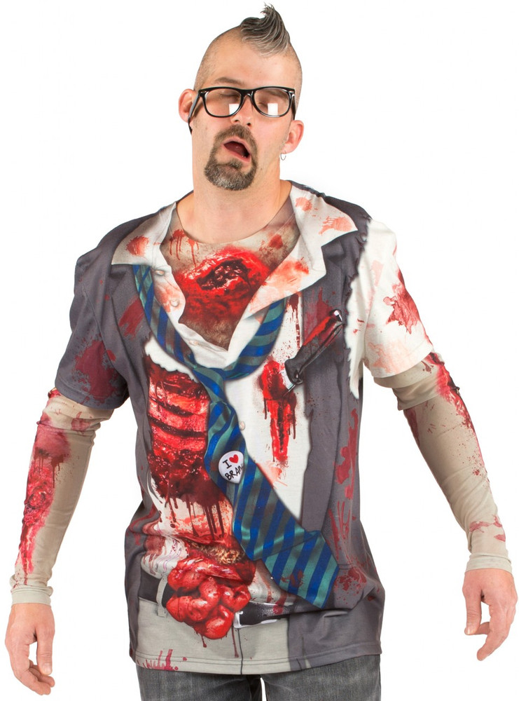 Faux Real Zombie Costume Front View