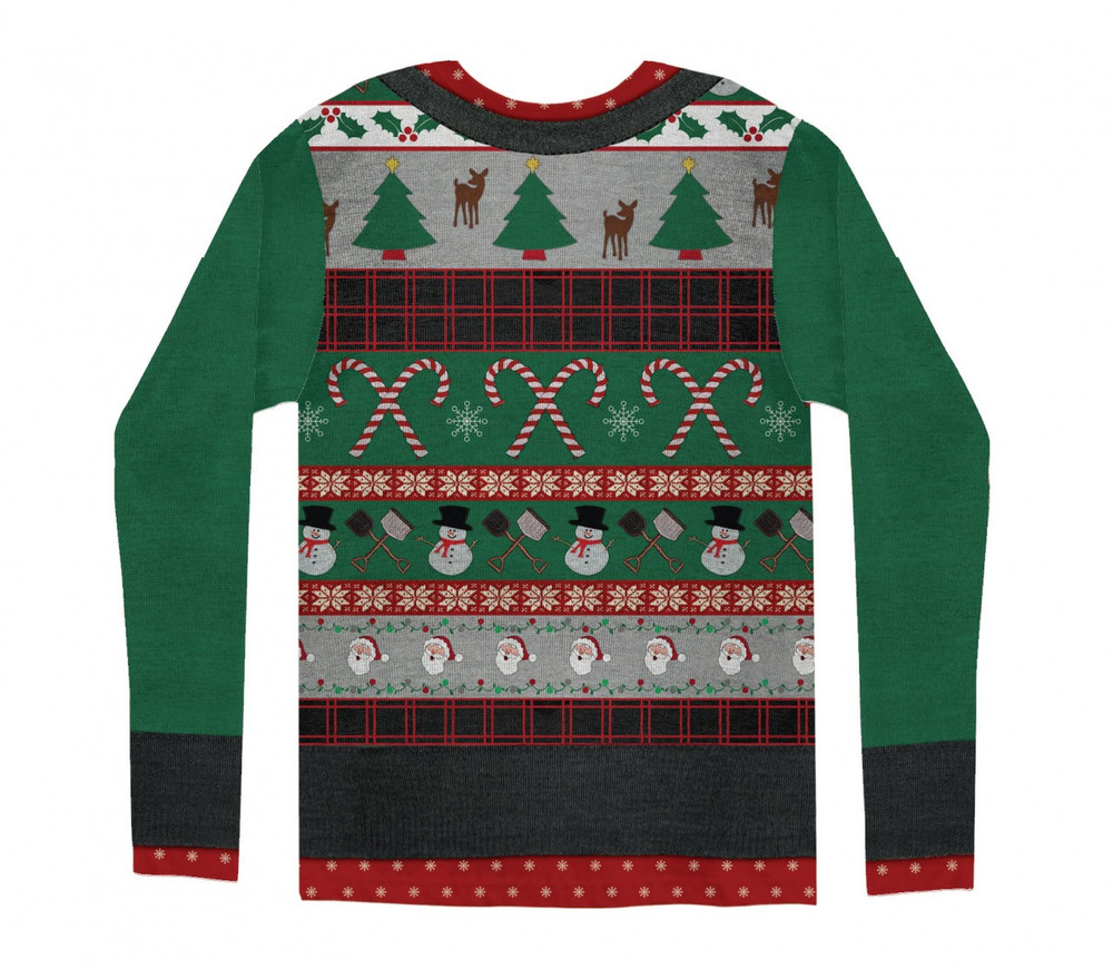 Mens Ugly Christmas Sweater Back View