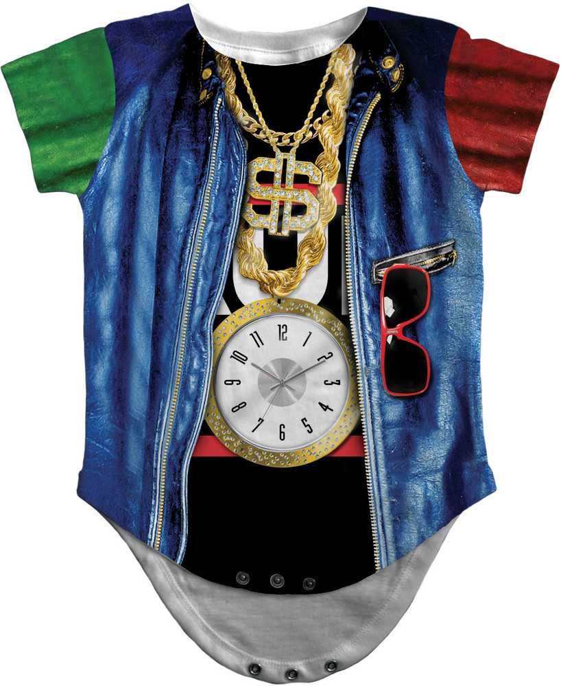 Old School Rapper Romper Front