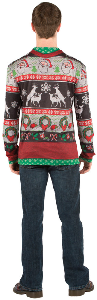 Christmas Frisky Deer Sweater - Back View