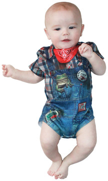 Faux Real Infant Hillbilly Romper