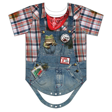 Faux Real Infant Hillbilly Romper - Front