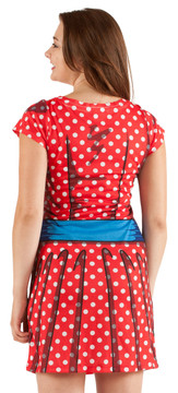 Faux Real Cartoon Dress - Back View