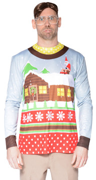Faux Real Santa on Break Sweater T-Shirt - Front View
