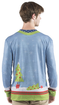 Faux Real Elves Gone Wild Sweater T-Shirt - Back View