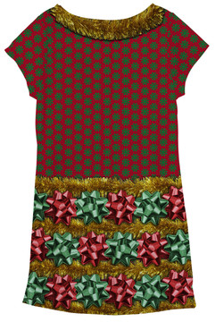 Faux Real Christmas Bow Dress - Back View