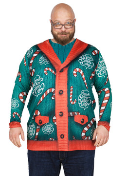 Big Size Lick My Candy Cane Sweater