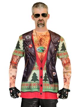 Xmas Biker Sweater w/ Tattoos