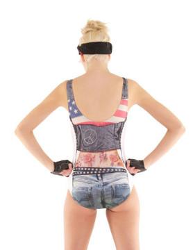 Leather Tattoo Swimsuit
