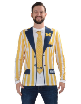 University of Michigan Striped Suit Tee