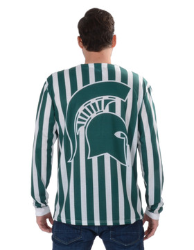 Michigan State Spartans Striped Suit Tee