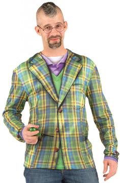 Faux Real Plaid Suit Front View