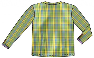 Youth Plaid Vest Back View