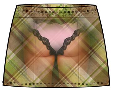 X-Ray Skirt Garment Back View