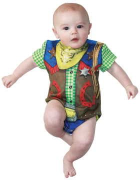 Faux Real Infant Cowboy Romper
