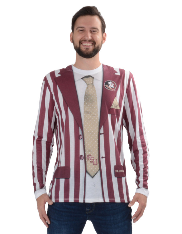 Florida State Seminoles Striped Suit Tee