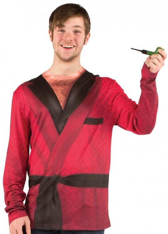 Faux Real Smoking Jacket Front View