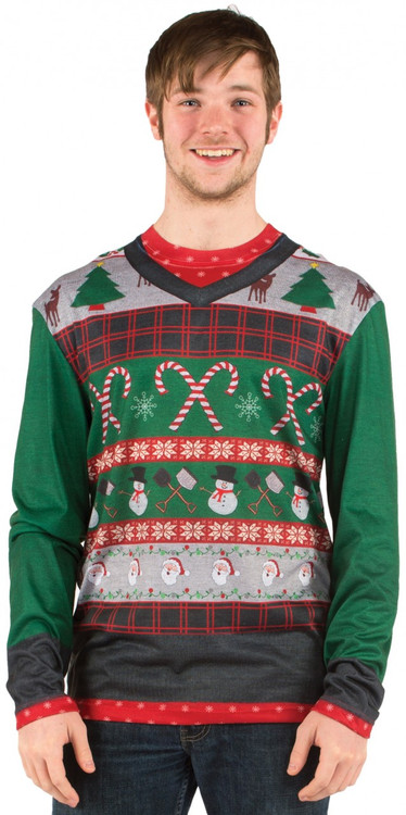 Faux Real Mens Ugly Christmas Sweater