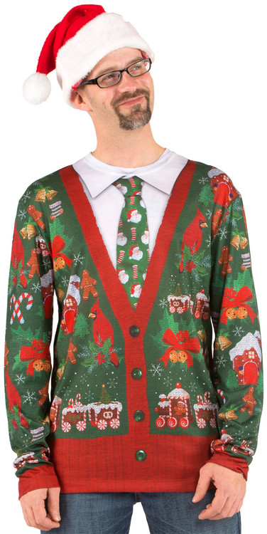 Ugly Christmas Cardigan - Front View