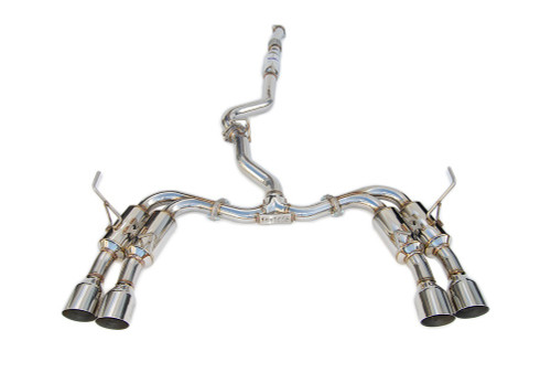 Invidia R400 Single Layer Quad Stainless Steel Tip Cat-Back Exhaust 15+ Subaru WRX/STI 4Dr (HS15STIGM4SS)
