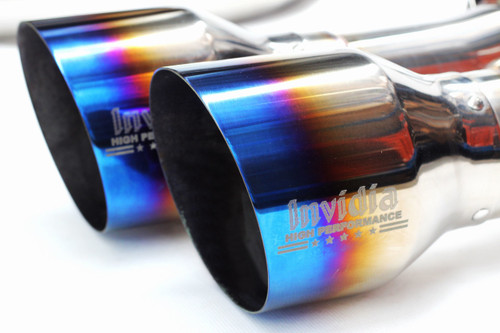 Invidia Gemini R400 Single Layer Titanium Tips Cat-Back Exhaust 15+ Subaru WRX/STI (HS15STI5GM4ST)