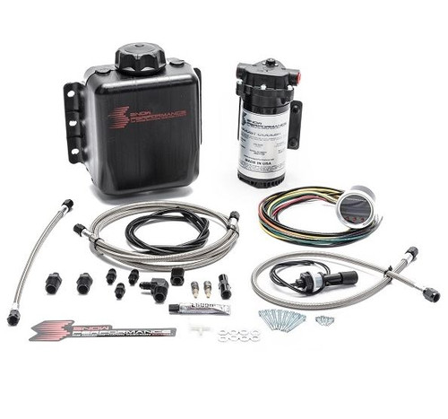 Snow Performance Stage 2 Boost Cooler Forced Induction Progressive Water-Methanol Injection Kit (Stainless Steel Braided Line & AN Fittings)