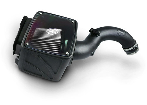 S&B 75-5102D Cold Air Intake for 2004-2005 Chevy / GMC Duramax LLY 6.6L (Dry Extendable Filter)