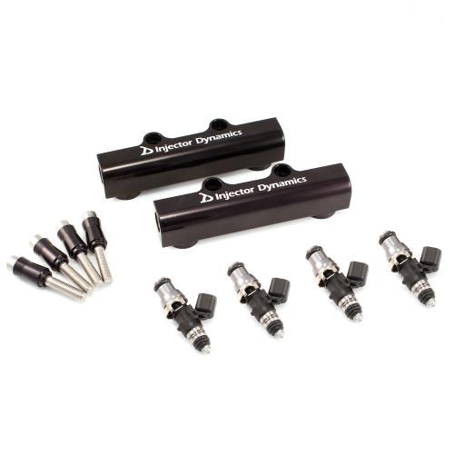 Injector Dynamics ID1700X Injectors w/Top Feed Fuel Rails for STI 04-06 Turbo (Set of 4)