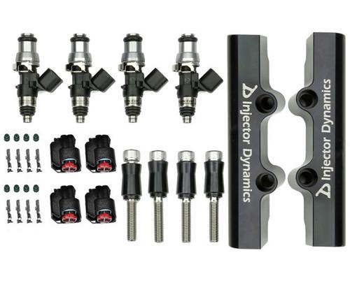 Injector Dynamics ID1700X Injectors w/Top Feed Fuel Rails for STI 04-06 Turbo (Set of 4) (1700.18.01.48.14.4)