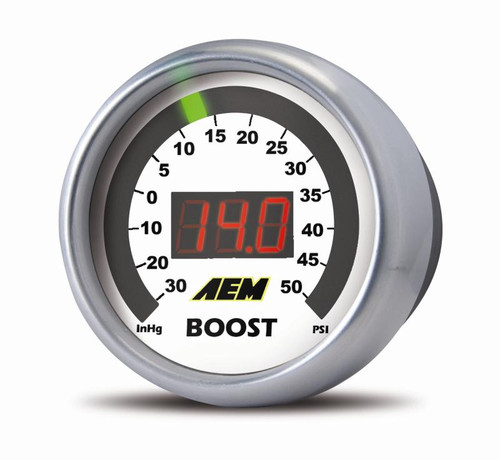 AEM 30-4408 Boost Digital 52mm Gauge 30-50 PSI