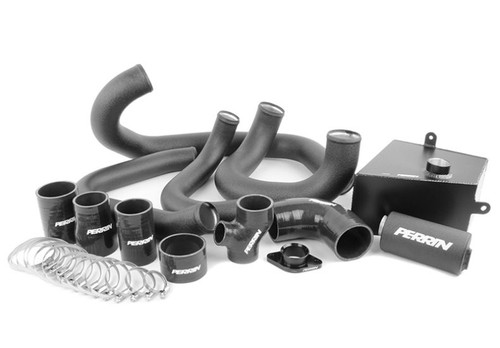 Perrin Performance FMIC Black Boost Tubes w/ Black Silicone Couplers For 2015-2017 Subaru WRX