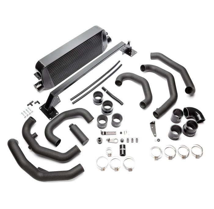 Cobb Front Mount Intercooler Kit (Black) 15-18 Subaru STI (SUBFMIC001BK)