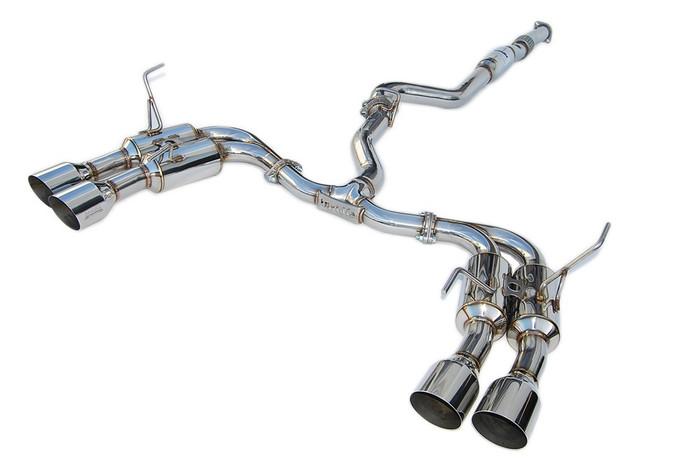 Invidia R400 Single Layer Quad Stainless Steel Tip Cat-Back Exhaust 15+ Subaru WRX/STI 4Dr (HS15STIGM4SS)
