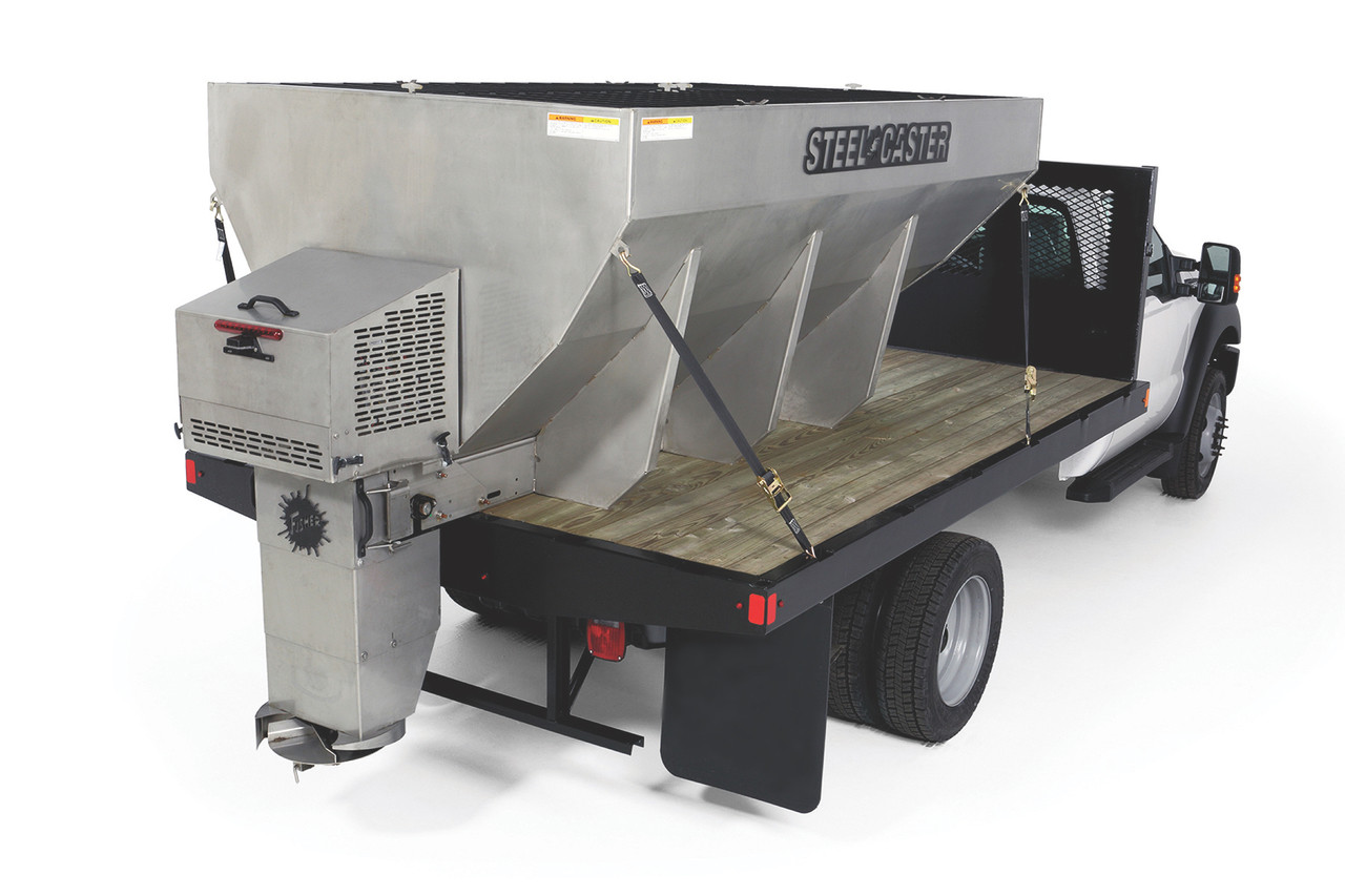 FISHER Steel-Caster Stainless Steel Hopper Spreader 1.5 yard - 6 yard