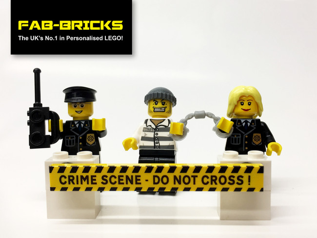 Custom Printed LEGO Crime Scene Signs