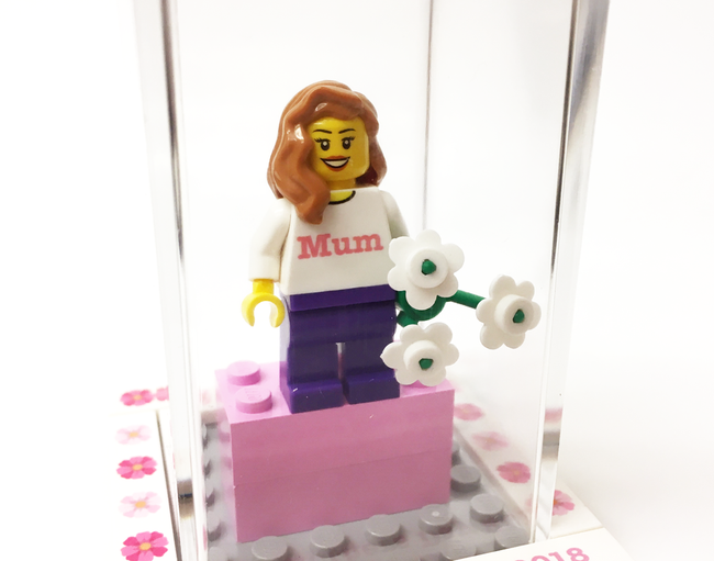 Large Personalised Happy Mother's Day Display Box with Mini-Figure. Includes FREE Keyring!