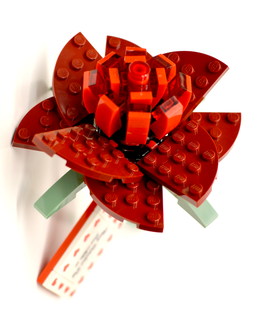 Personalised LEGO Rose built by Bright Bricks (LEGO Certified professionals)