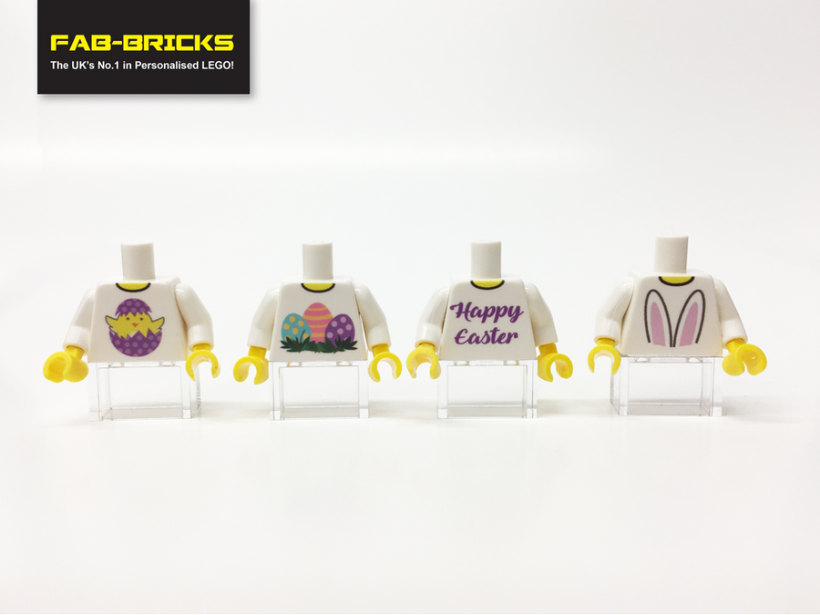 4 Easter Custom Printed Torsos *FREE SHIPPING!*