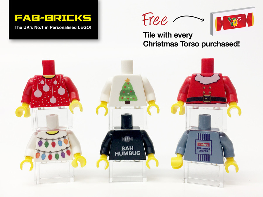 6 Christmas Jumpers Set 2 - *FREE SHIPPING! & 6 FREE CRACKER TILES*