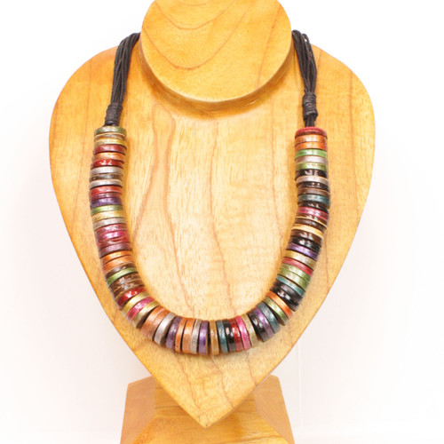 Stacked Disco Necklace
