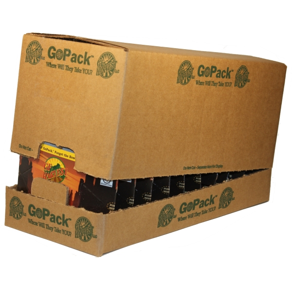 GoPack 10 pack case GF Harvest GoPackTM are an innovative way to enjoy the our quality certified gluten-free products.  Single-serving, each in a collapsible water-proof package.