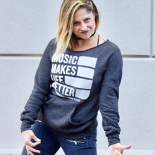 Music Makes Life Better Eco-Fleece Crewneck
