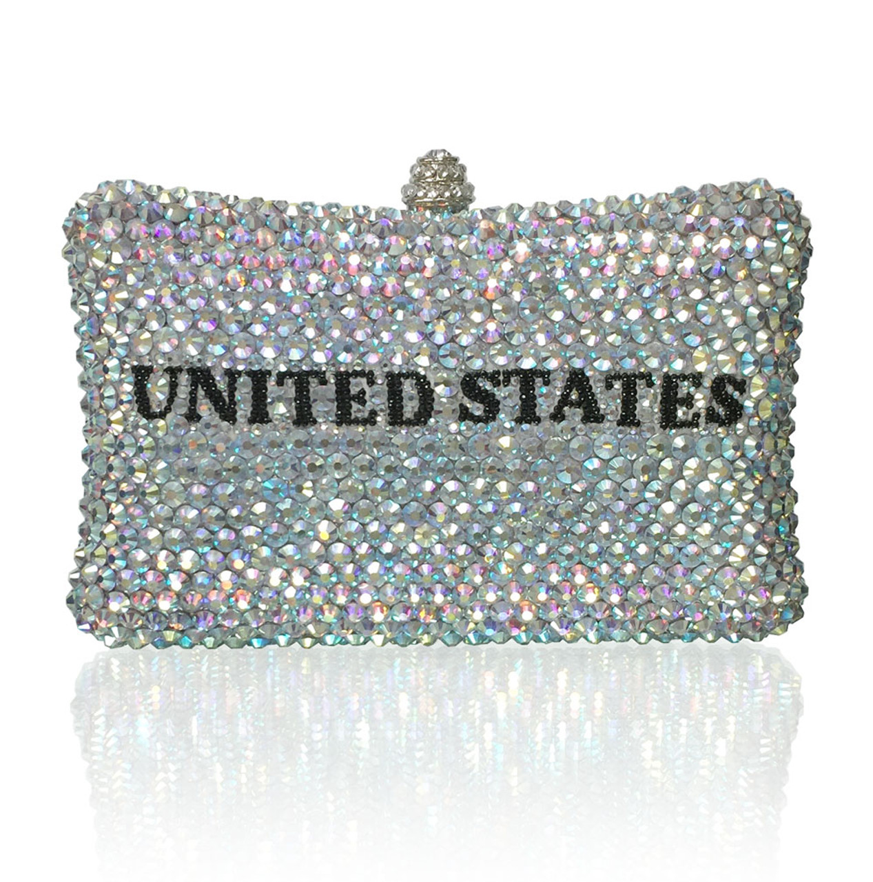Personalized Luxury Handmade Crystal Evening Clutch
