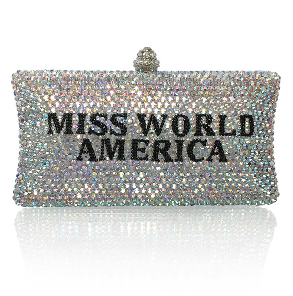 Personalized Crystal Title Large Clutch (iPhone Plus friendly)