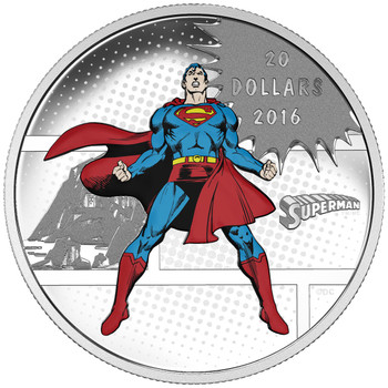 2016 $20 FINE SILVER COIN DC COMICS™ ORIGINALS: THE MAN OF STEEL™